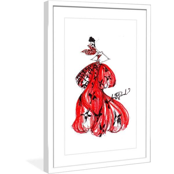 """Marmont Hill - """"Horn Of Plenty"""" by Jaime Lee Reardin Fashion Illustrator framed art print"""