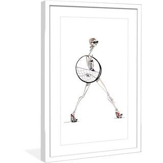 "Marmont Hill - ""Chanel Hula"" by Jaime Lee Reardin Fashion Illustrator framed art print"