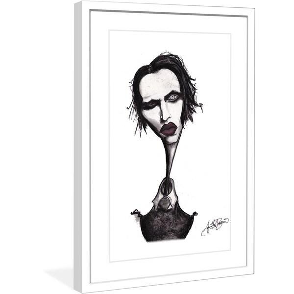 "Marmont Hill - ""Marilyn Manson"" by Jaime Lee Reardin Fashion Illustrator framed art print"