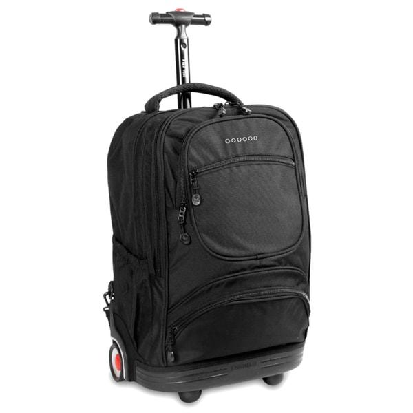 J World Black Sunburst Rolling 15.4-inch Laptop Backpack