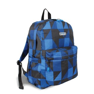 J World Block Navy OZ Expandable 17-inch Backpack