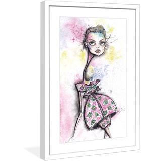 "Marmont Hill - ""Printemps"" by Jaime Lee Reardin Fashion Illustrator framed art print"