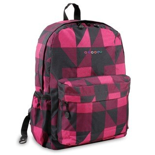 J World Block Pink OZ Expandable 17-inch Backpack