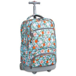 J World Blossom Sunburst Rolling 15.4-inch Laptop Backpack