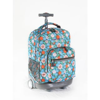 J World Blossom Sunrise 18-inch Rolling Backpack