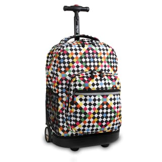 J World Checkers Sunrise 18-inch Rolling Backpack