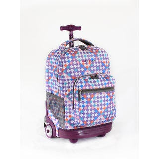 J World Checkmate Sunrise 18-inch Rolling Backpack
