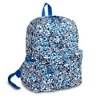 J World Geo Blue OZ Expandable 17-inch Backpack