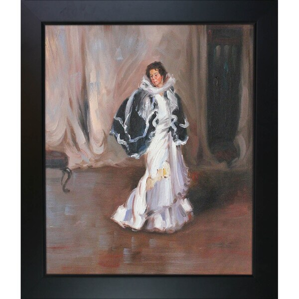 Alfred Henry Maurer 'The Black Cape' Hand Painted Framed Canvas Art