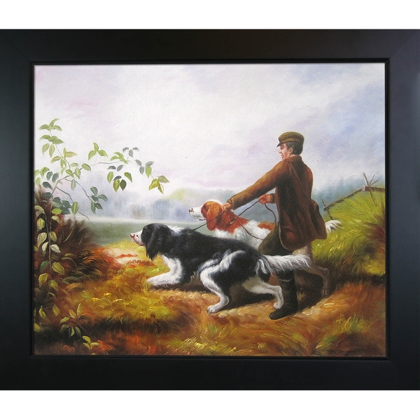 Arthur Fitzwilliam Tait 'Going Out' Hand Painted Framed Canvas Art