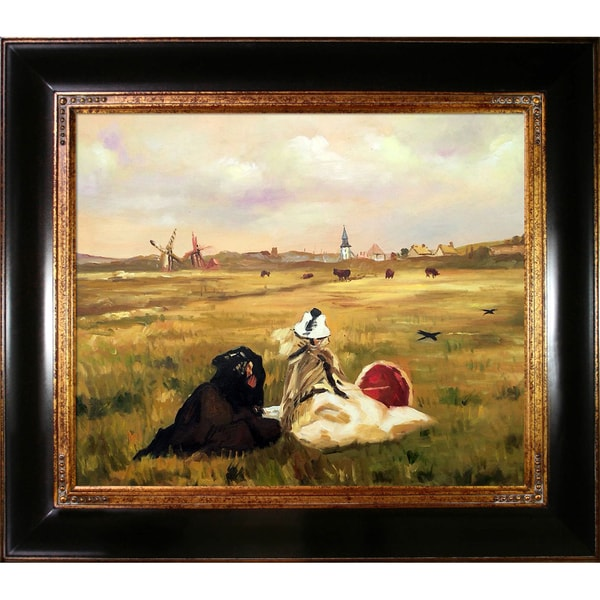 Edouard Manet 'The Swallows' Hand Painted Framed Canvas Art