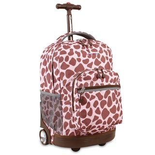 J World Pink Zulu Sunrise 18-inch Rolling Backpack