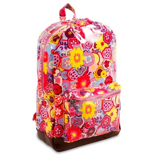 J World Poppy Pansy Lena 15.4-inch Laptop Backpack