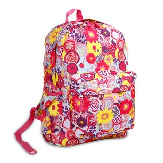 J World Poppy Pansy OZ Expandable 17-inch Backpack