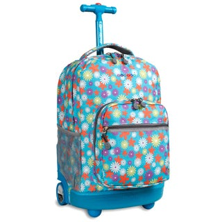 J World Spring Sunrise 18-inch Rolling Backpack