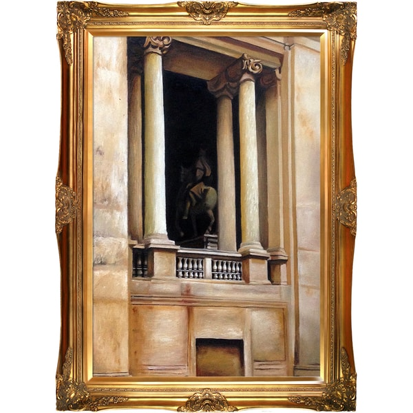 John Singer Sargent 'A Window in the Vatican, 1906' Hand Painted Framed Canvas Art
