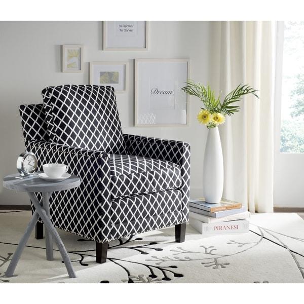 Safavieh Buckler Black/ White Club Chair