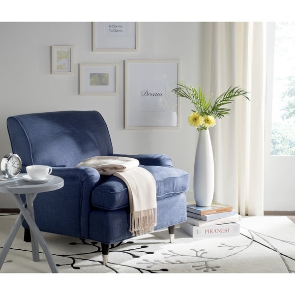 Safavieh Chloe Navy Club Chair