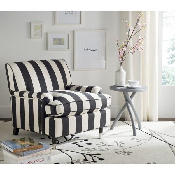 Safavieh Chloe Black / White Club Chair