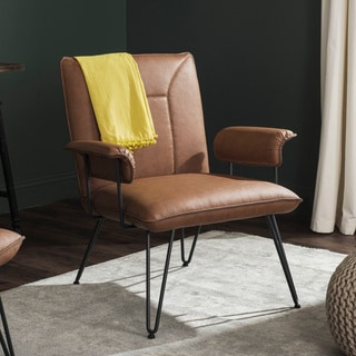 Safavieh Metropolitan Dining Johannes Camel Arm Chair