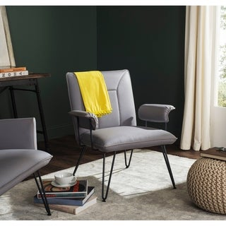Safavieh Metropolitan Dining Johannes Grey Arm Chair