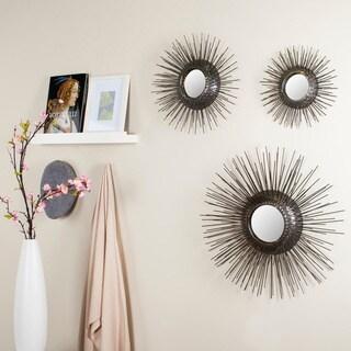 Sunburst Triptych Gold Mirror Set of 3