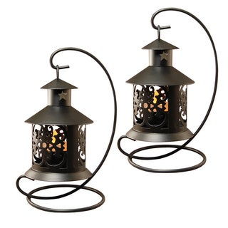 Tabletop Metal Lantern Black (2 Count)