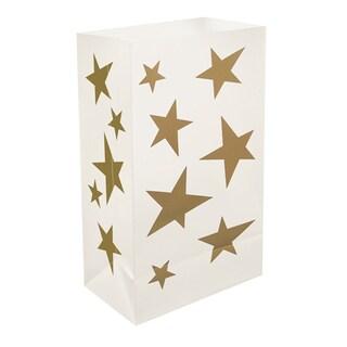Plastic Luminaria Bags Stars (12 Count)