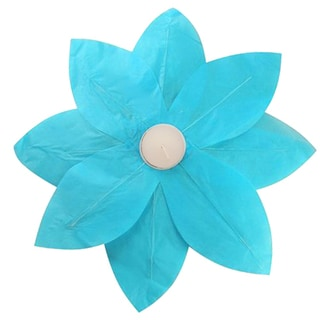 Floating Lotus Lanterns Turquoise (6 Count)