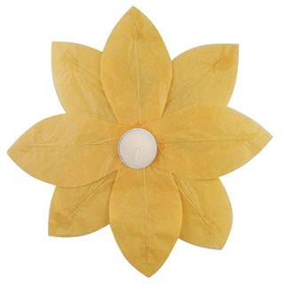 Floating Lotus Lanterns Yellow (6 Count)