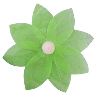Floating Lotus Lanterns Green (6 Count)