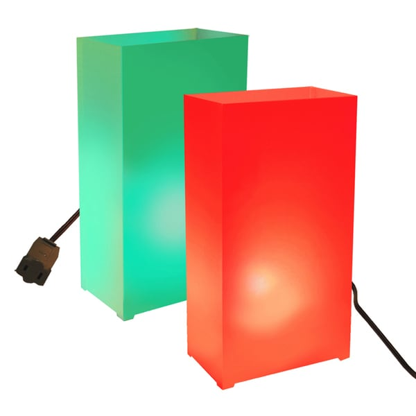 Electric Luminaria Kit Red and Green (10 Count)