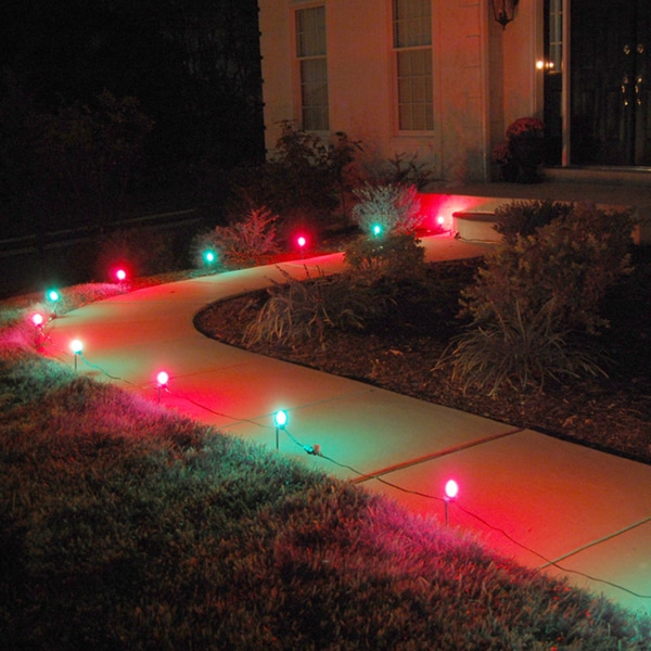 Electric Pathway Lights Red and Green (10 Count)
