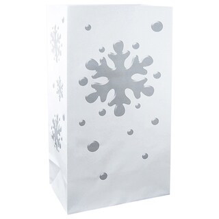 Flame Resistant Luminaria Bags Snowflake (100 Count)