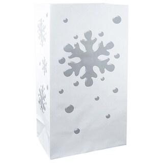 Paper Luminaria Bags Snowflake 100 Count)