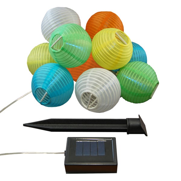 Solar Nylon String Multi-colored Lights (10 Lights)