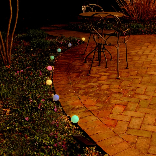Solar Plastic String White Lights (8 lights)