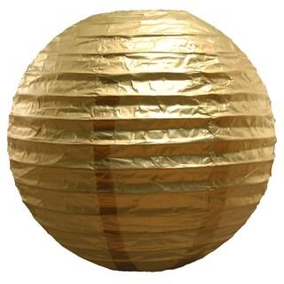 Paper Metallic Gold 10-inch Lanterns (5 Count)