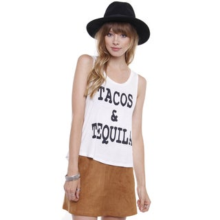 Beston Juniors' 'Tacos and Tequila' Graphic Basic Tank Top