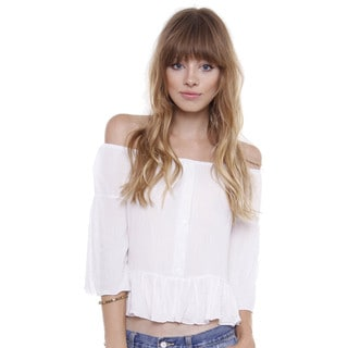 Junior's Pretty Off Shoulder Peasant Top