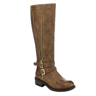 MARK and MADDUX RUDY-02 Women's Stylish Knee High Riding Side Zipper Boots