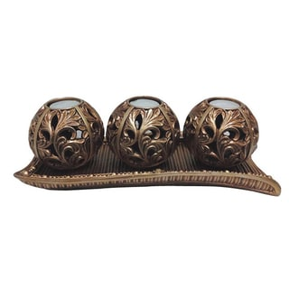 D'Lusso Designs Sasha Collection 4-piece Tray with Three Orb Set