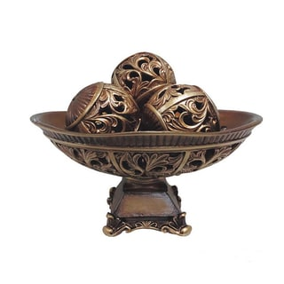 D'Lusso Designs Sasha Collection 4-piece Bowl with 3-piece Orbs Set
