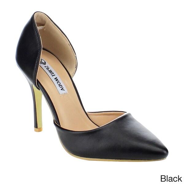 Spirit Moda Colleen-1 Women's Pointed Toe Stiletto Heel Dress D'Orsay Pumps