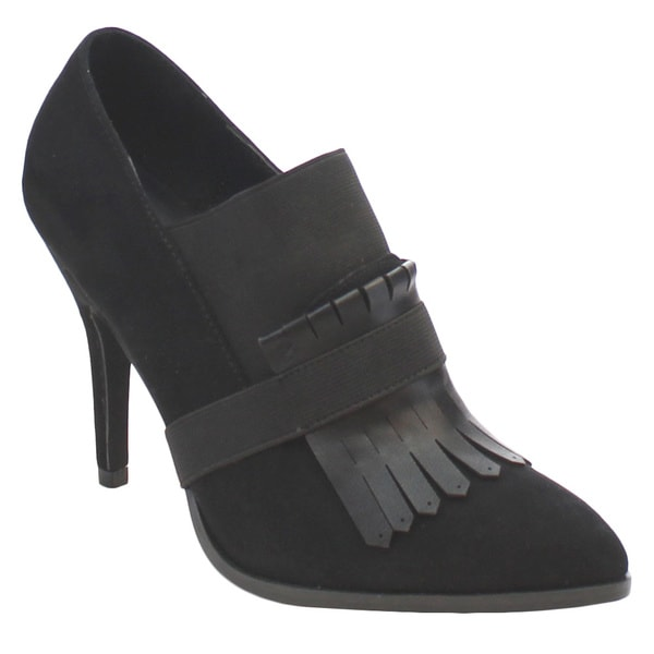 MI.IM NATALIE-01 Women's Sexy Pointed Toe Removable Tassel Strap Ankle Booties