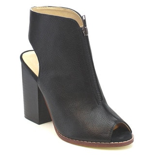 MI.IM NELLY-01 Women's Stylish Front-zip Cut-out Ankle Booties