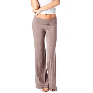 Popana Women's Super Soft Solid Palazzo Pants