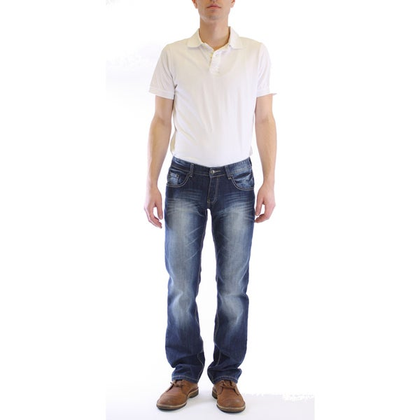 Dinamit Men's Classic Slim Straight Leg Jeans
