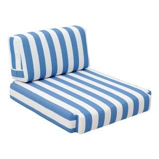 Bilander Blue and White Arm Chair