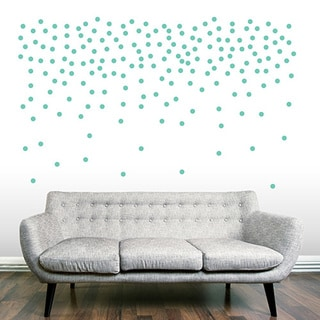 """Set of 200 - 1"""" Confetti Dots Wall Decals"""